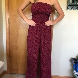 Hollister Strapless Tribal Print Jumpsuit Size S